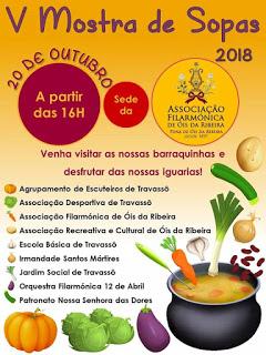 MOSTRA DE SOPAS, EM 5ª. EDIÇÃO E EM ÓIS DA RIBEIRA!