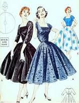 Cartamodelli abiti anni 50