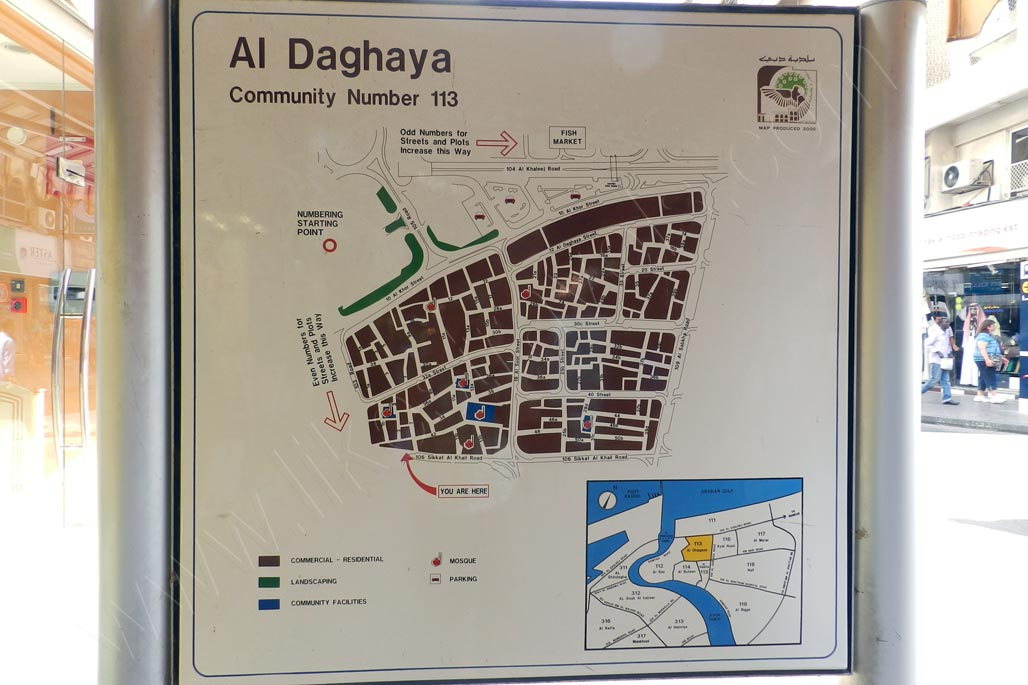 Map of Al Daghaya in Deira area