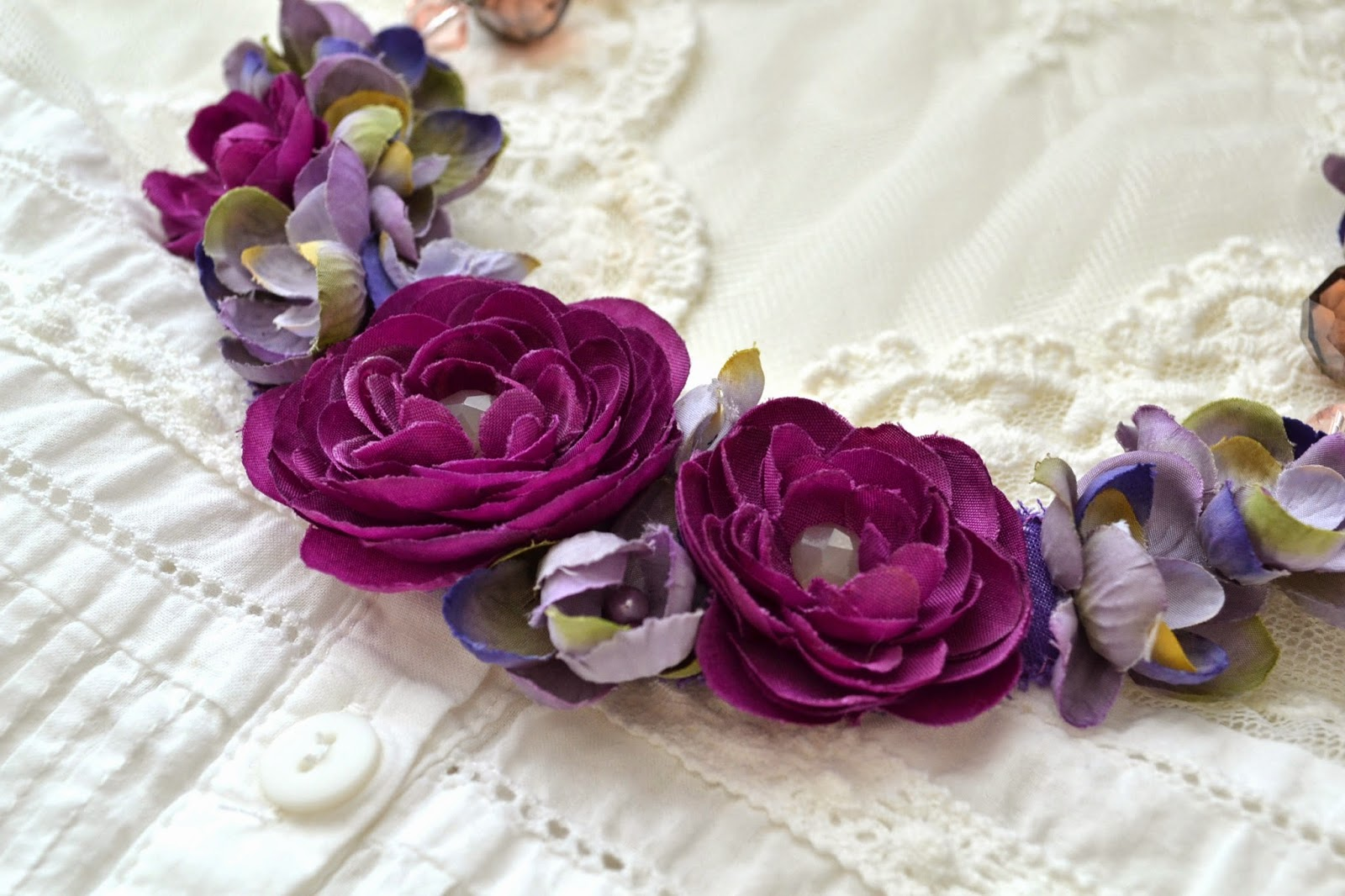 Tea Rose Home Tutorial Radiant Orchid Meadow Necklace