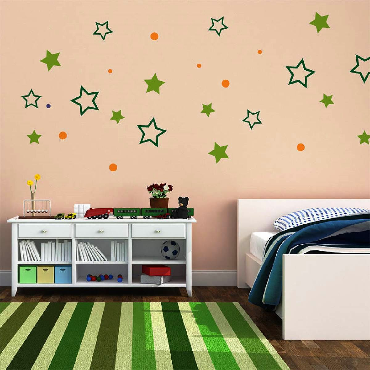 Simple bedroom wall decoration - Simple Wall Designs For Bedrooms 2014