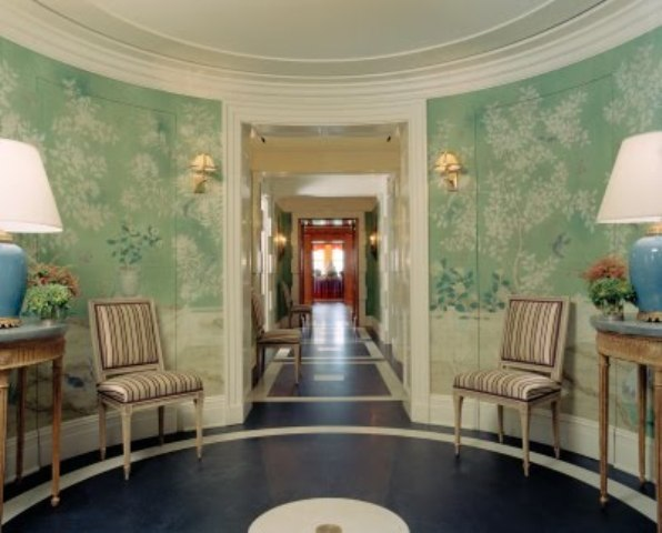 Foyer Room Nyc : Color outside the lines foyer wallpaper