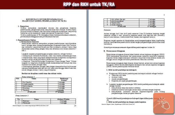 RPP dan RKH untuk TK/RA