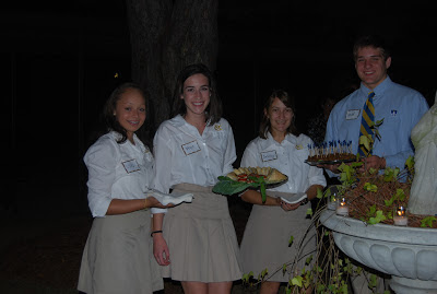 Welcoming Montgomery Catholic's new Families with Cocktails in the Courtyard 2