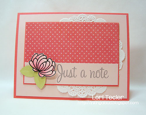 Just a Note-designed by Lori Tecler-Inking Aloud-stamps from Uniko Studio