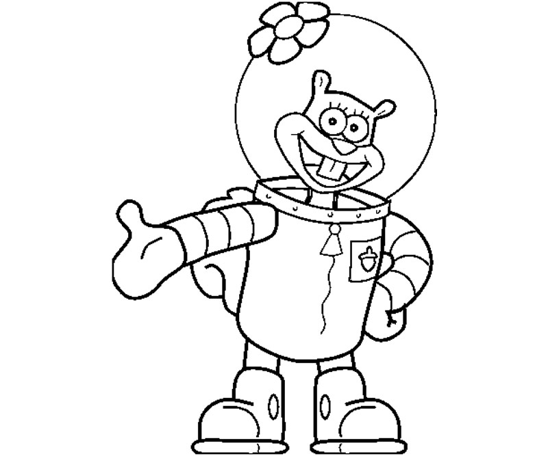 Sandy cheeks free colouring pages for Sandy cheeks coloring pages