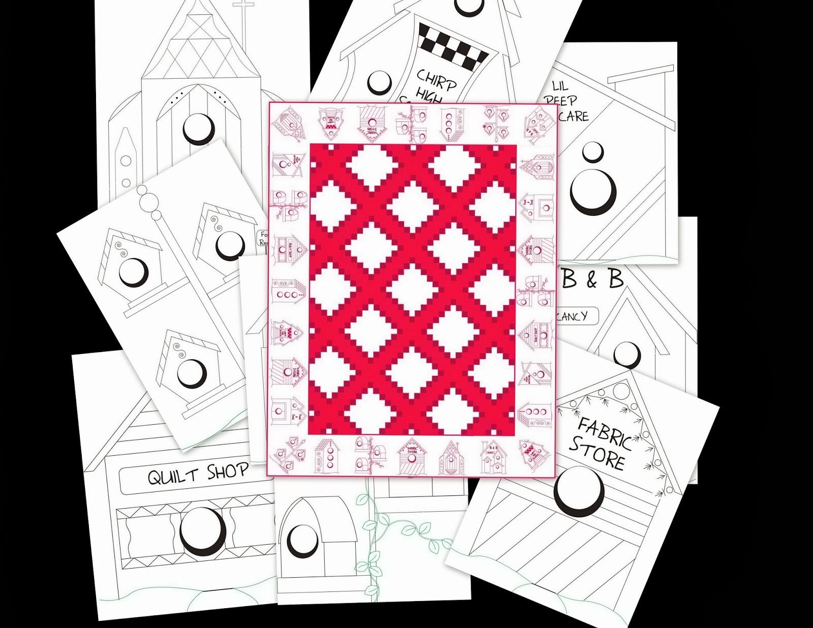 Shawkl Beginning Of Birdhouse Village Quilt Pattern