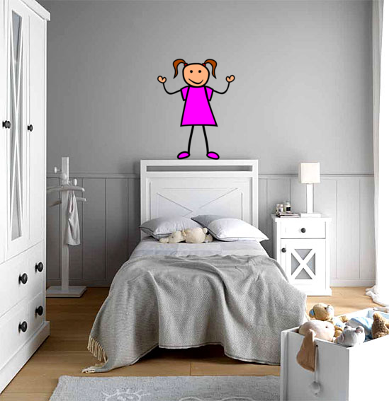 Quekukos vinilos decorativos dormitorio para ni os o ni as for Vinilos dormitorio nina