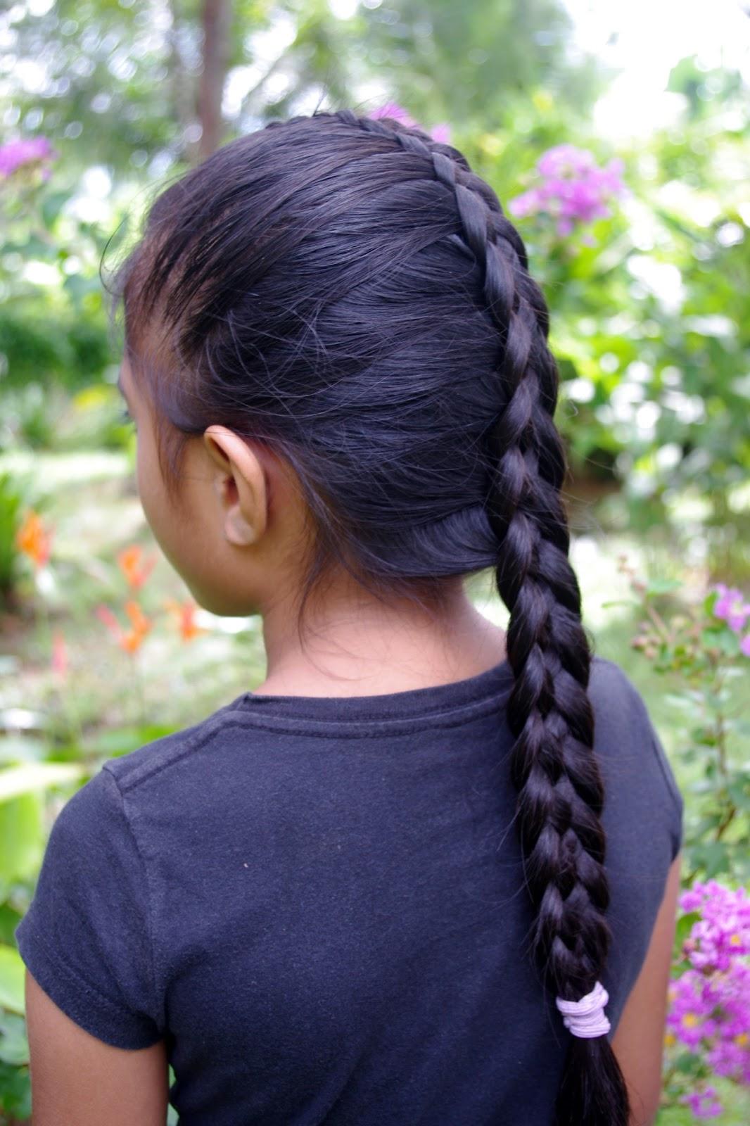 Braids & Hairstyles for Super Long Hair: Micronesian Girl~ 6-Strand French Braid