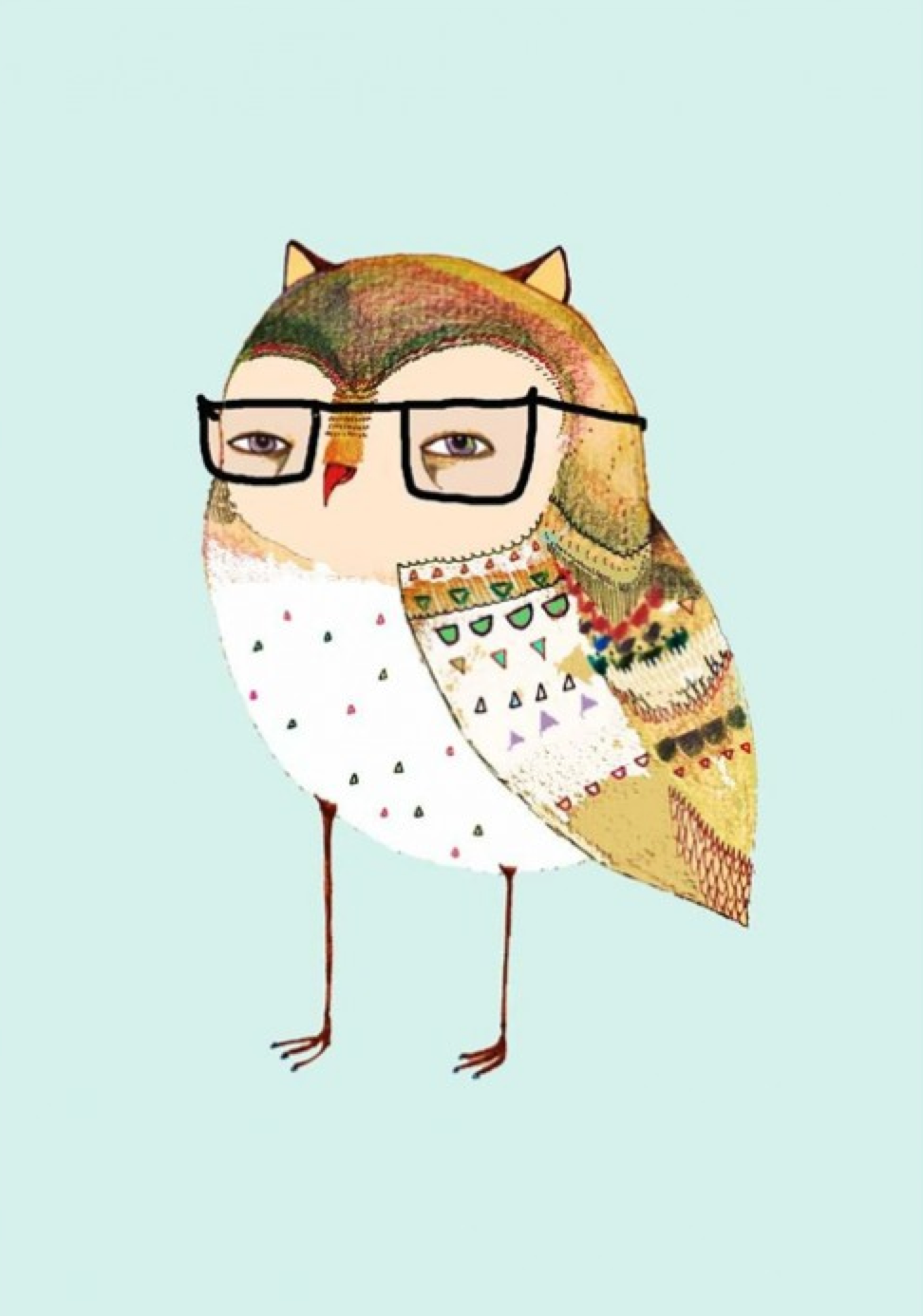 http://www.designstuff.com.au/wall-art/posters-children-s-room/ashley-percival-little-owl-wearing-glasses-a3.html
