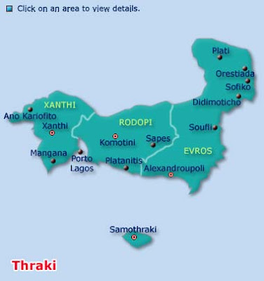 Thrace Map Province Area