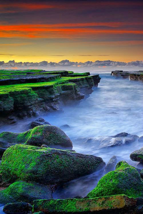 Sunrise at Mossy Beach - Sydney, Australia