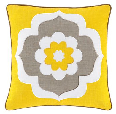 Jonathan Adler yellow Flower Pillow