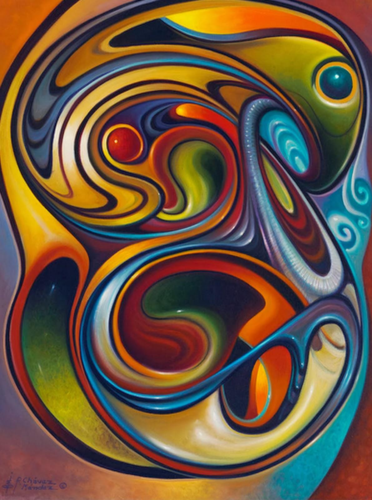 Cuadros pinturas oleos abstractos modernos pinturas de for Imagenes de cuadros abstractos faciles