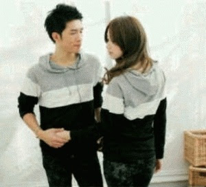 Jaket Couple Strip