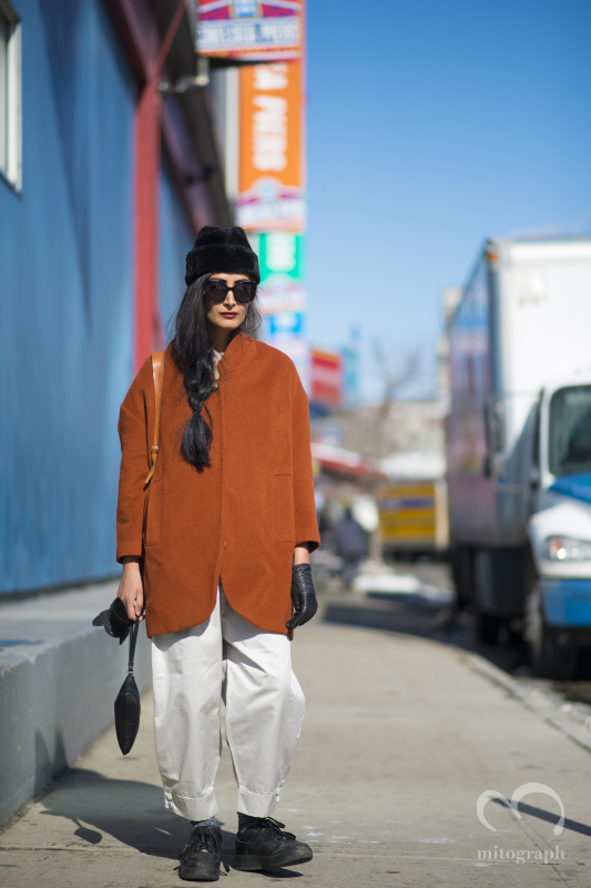 Photographer Nadia Sarwar at New York Fashion Week 2014 Fall Winter NYFW