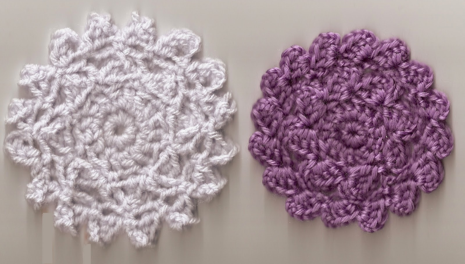 Free Crochet And Knit Patterns : SmoothFox Crochet and Knit: SmoothFoxs Petal Coasters - Free Pattern