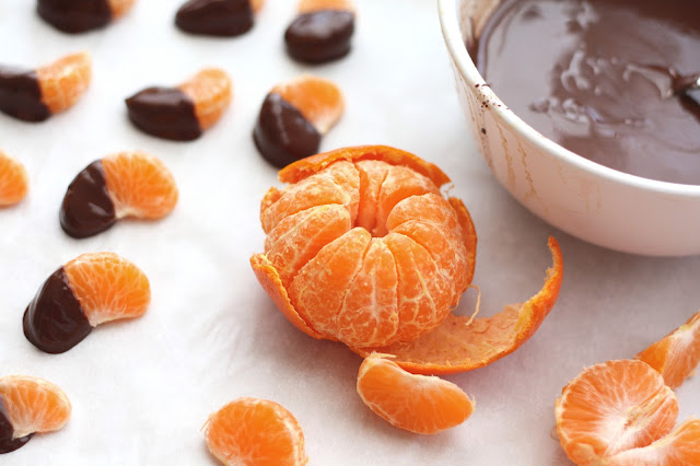 Chocolate Covered Clementines & Homemade Magic Shell recipe by Barefeet In The Kitchen