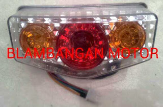 Variasi lampu stop model Yamaha RX King plus sen.