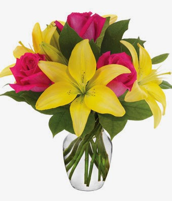 Rose and Lily Flowers delivery same day