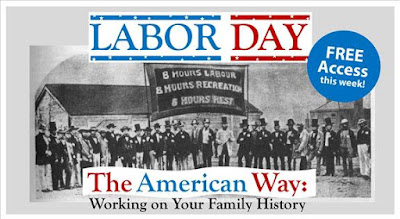 Family Historians May Commemorate Labor Day by Working FREE on Family History on AmericanAncestors.org September 2 through September 9