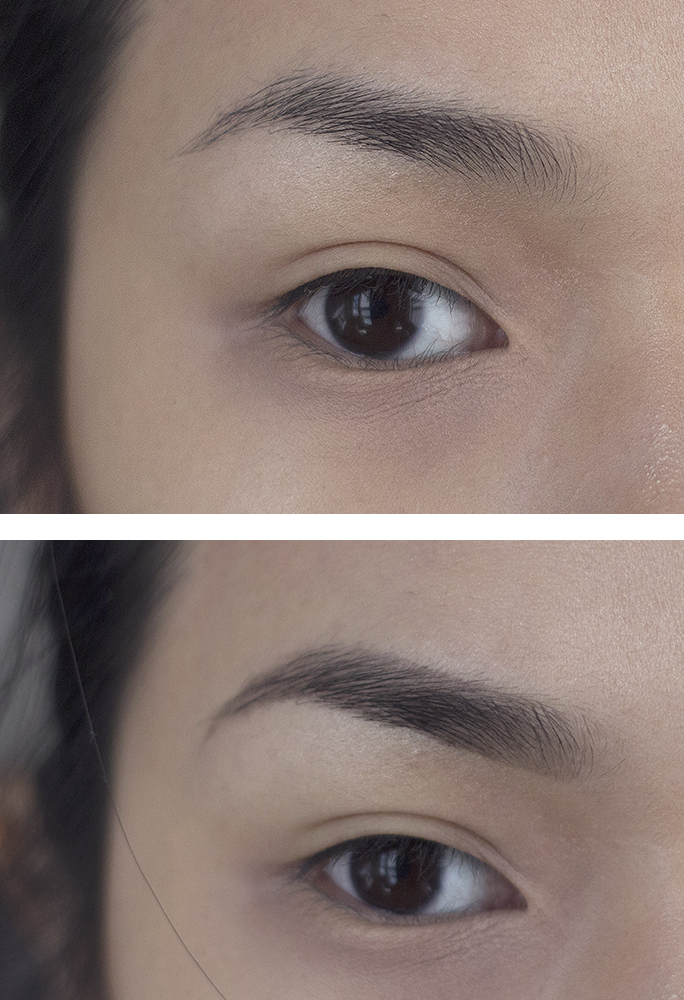 anastasia dipbrow pomade before and after