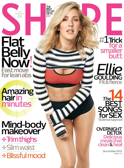 Ellie Goulding - Shape magazine, December 2015