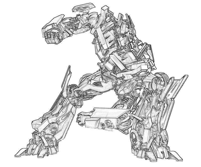 coloring pages optimus prime - photo#36
