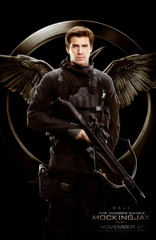 Gale (Liam Hemsworth) Los Juegos del Hambre Sinsajo parte 1