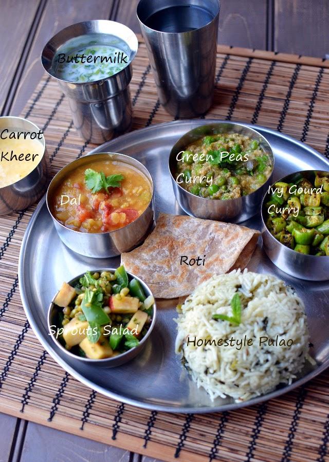 An Ayurvedic Meal (Thali)