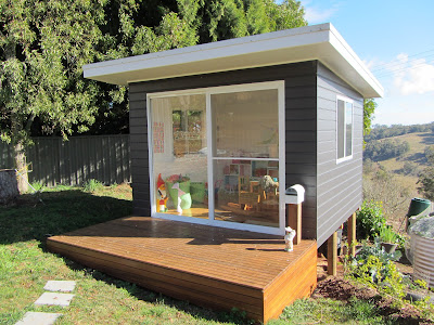 Children's Cubby House Now… and a Room for Grown-Ups Later