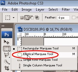 elliptical marque tool photoshop