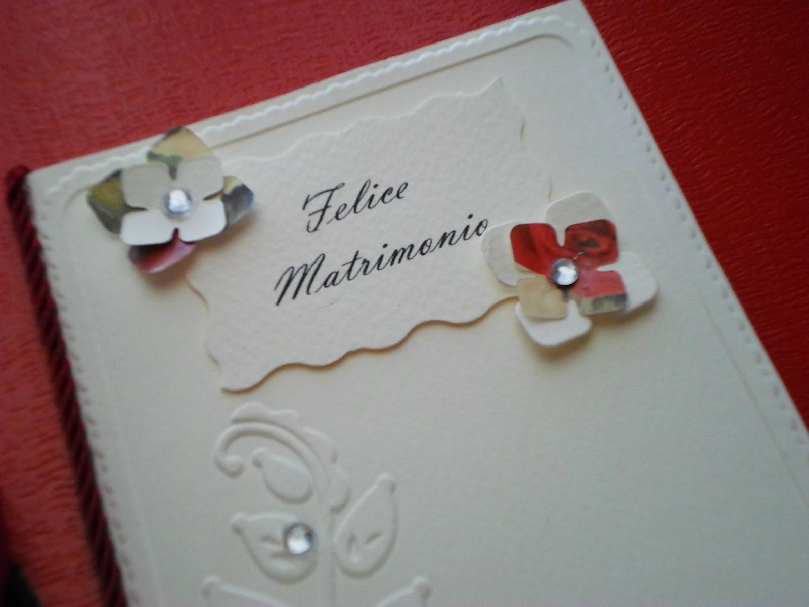 Auguri Matrimonio In Tedesco : Preziose raffinatezze biglietto auguri matrimonio fai da te