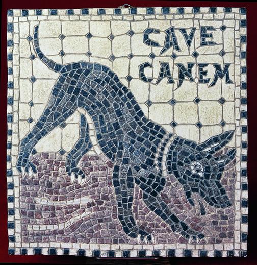 Cave canem προσοχή σκύλος