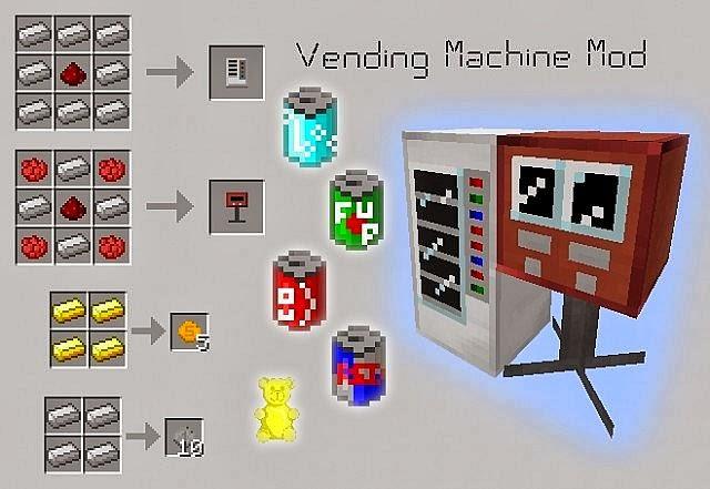 скачать моды на майнкрафт 1.6.4 на vening machine