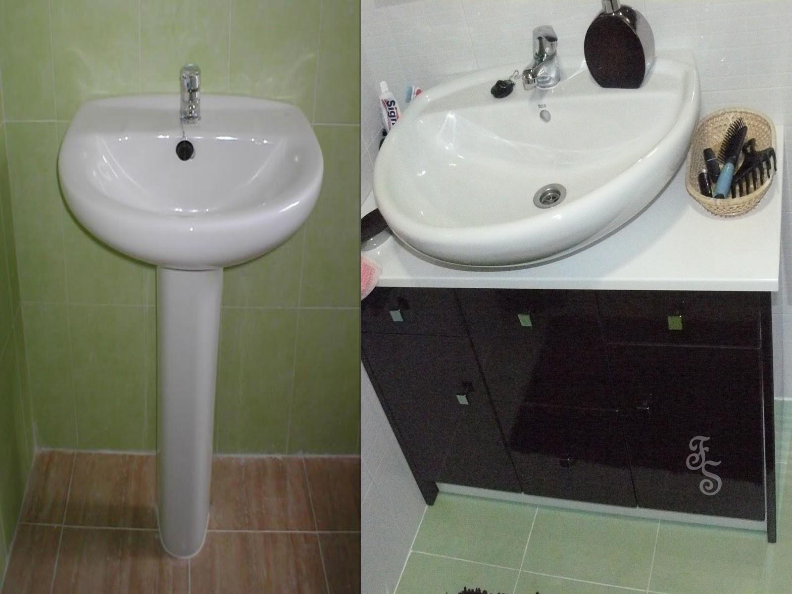 Casas cocinas mueble muebles de lavabo con pie - Muebles de bano para lavabos con pie ...