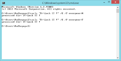Lock A Specific Folder In Windows Via Command Prompt 2- ITTWIST