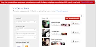 Temukan dan tambahkan teman di google plus anda dengan sangat mudah