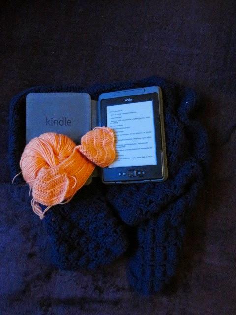 Wspólne dzierganie i czytanie - Cień Wiatru oraz Otul Jesień