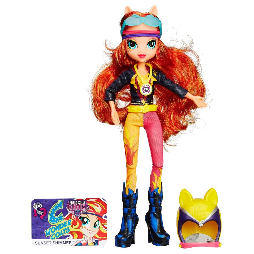 Sunset Shimmer And Rainbow Dash Sporty Style Deluxe Images