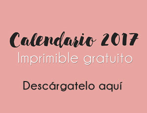 Descargable gratuito: Calendario completo 2017