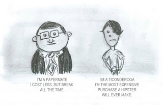 Paper Mate and Ticonderoga Pencil Cartoon