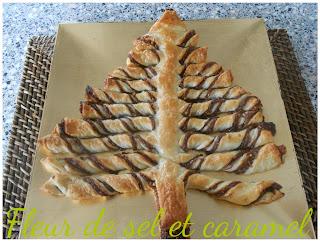 Sapin de Noël feuilleté chocolat et pralin !!!