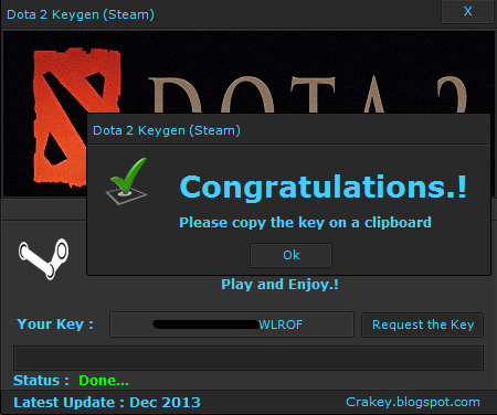Dota 2 (Steam) Key Generator Free Download November 2013