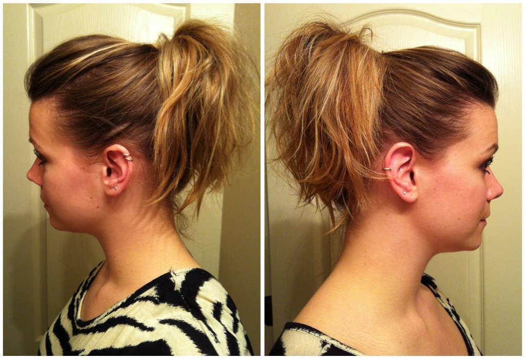 Bye Bye Beehive A Hairstyle Blog How To Poof A Ponytail Without