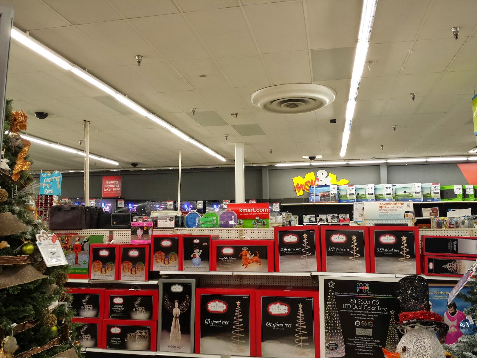 now into the electronics department dvds and music sections very well stocked - Kmart Halloween
