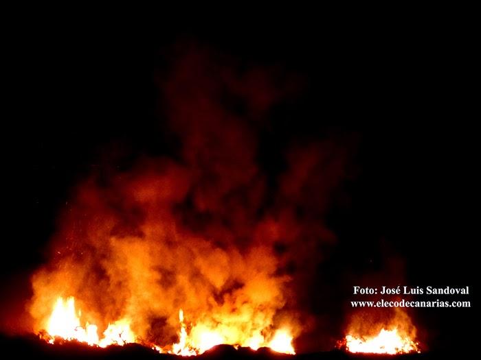fotos incendio lomo los frailes tamaraceite