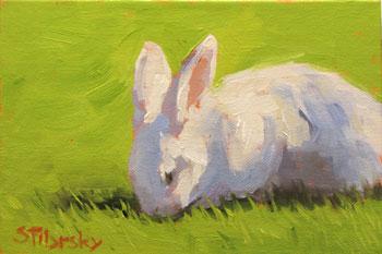 White rabbit painting - photo#14