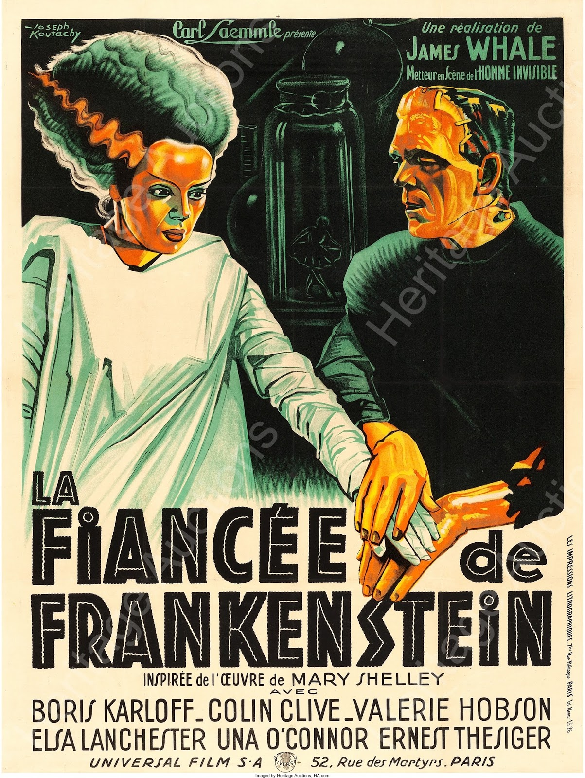 Rare bride of frankenstein movie poster
