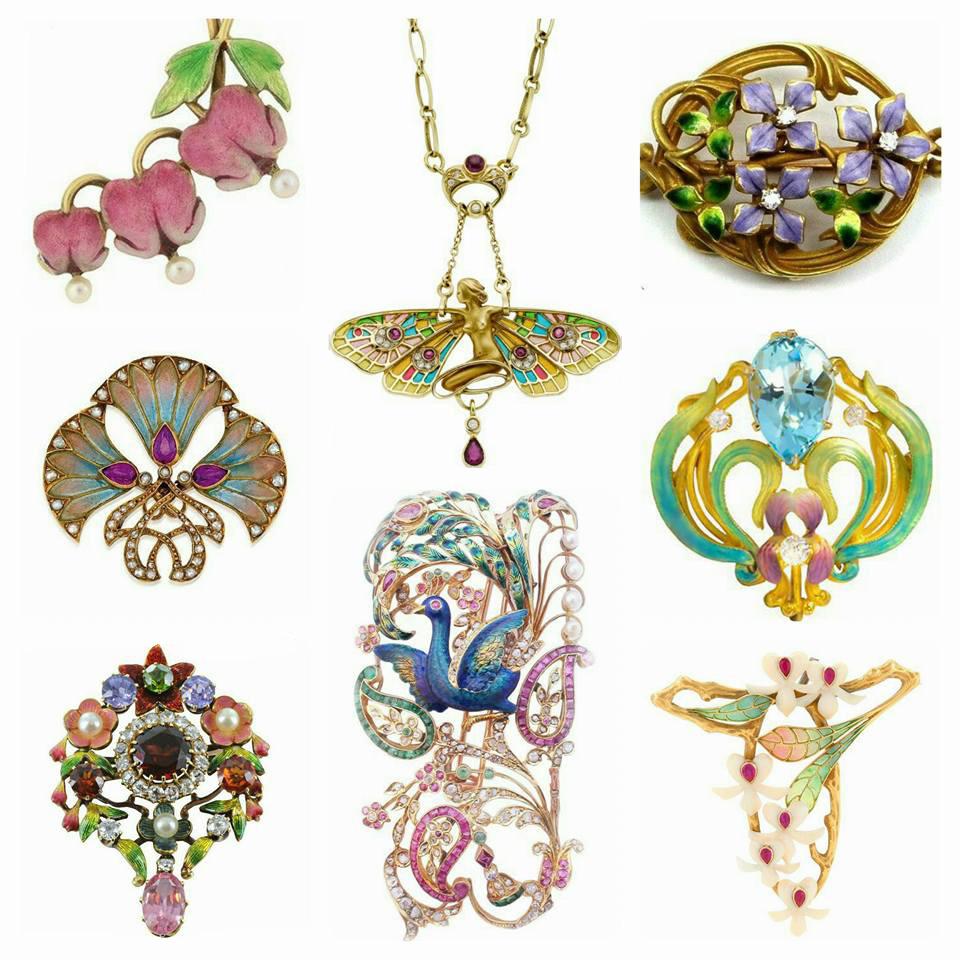 El color del Art Nouveau en la joyería